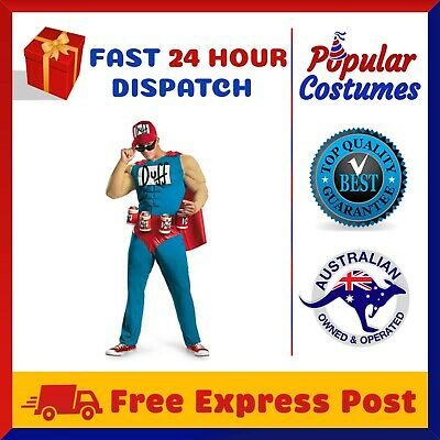 The Simpsons Duffman Duff Man Beer Muscle Classic Mens Adult Costume Oktoberfest