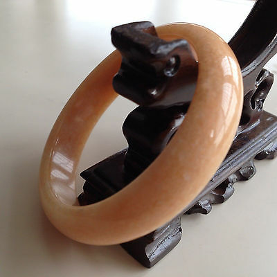 Natural Chinese jade hand-carved bracelet,beautiful bangle 60mm