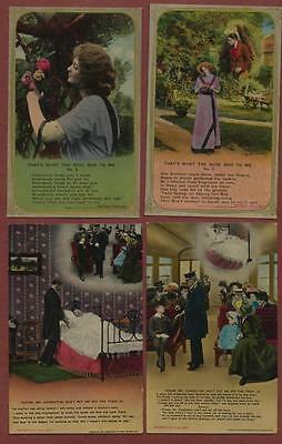 Bamforth song cards  postcards  qh166