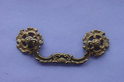 Antique Karges Brass Drawer Dresser Pull NOS Furniture Hardware Italian Casting