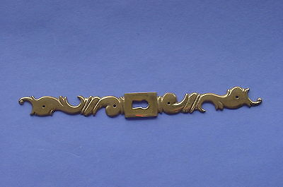 Vintage Karges Furniture Brass Skeleton Decorative Key Hole Cover Plate NOS Nice