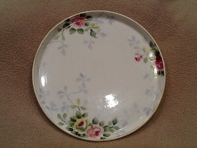 Nippon, Shallow Round Tray, Floral, Hand Painted - vintage
