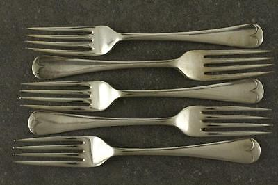 Vintage GLADWIN Silver Plate Flatware 5PC Lot Fiddle Tip Lunch Forks Place 7.25""