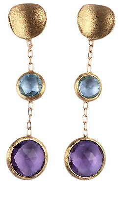 Orecchini in Oro 750 con pietre semipreziose. Earrings 18 Kt Gold with stones