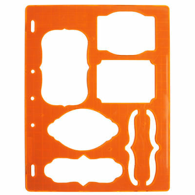 FISKARS SHAPE TEMPLATE stencil Tags 2 & Brackets 5374S