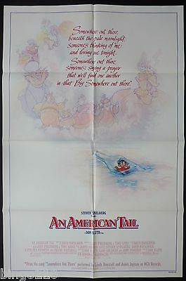 An American Tail Original 1 Sheet Poster Don Bluth Dom Deluise 1986