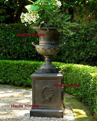 NEW HORCHOW Urn ORNATE Planter Antique Black horchow Outdoor Garden Patio