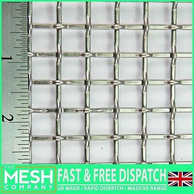#2 Mesh x 10mm Aperture x 2mm Wire - SS316 Grade Woven Wire Mesh - Various