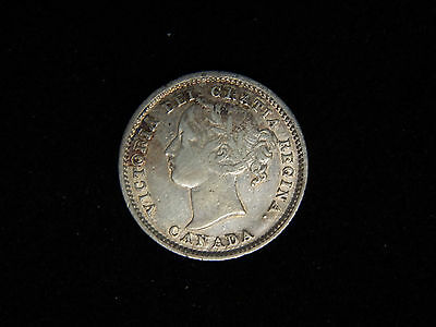 1870 Canada 10 Cents Silver - Wide 0's - Young Victoria