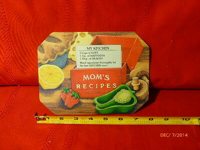 VINTAGE ANTIQUE TIN SERIES HOT MAT My Kitchen Moms Recipes 1987 Trivet 6 x 8