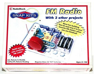 BRAND NEW IN BOX RADIO SHACK SNAP KITS FM RADIO WITH 3 OTHER PROJECTS AGES 8-108