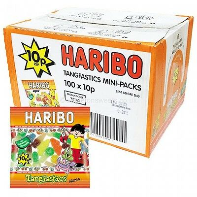 100 Mini Bustine Caramelle Haribo Gommose Mix