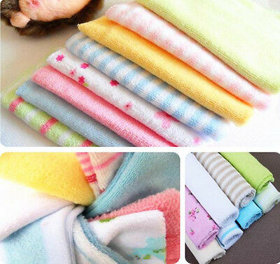 8PCS/Set mixed color baby wash soft cloth bath Wash cloth towel flannel wipe