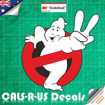 Peace GHOSTBUSTERS Luggage Decal Sticker Skateboard Car Guitar. 3M Film. 75mm.