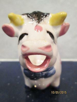 VINTAGE HAND PAINTED PORCELAIN WHITE COW CREAMER MADE IN JAPAN