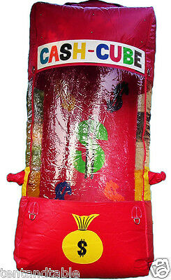 Inflatable Cash Cube Money Grab Game Bounce House Ticket Grabber Raffle Event