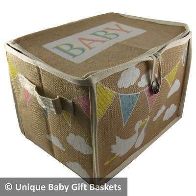 Baby storage box/hamper for nursery baby gift basket/hamper unisex boy girl