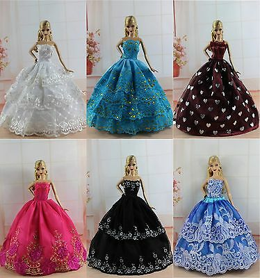 6 PCS Fashion Princes Dress/Wedding Clothes/Gown For 11.5in.Doll S188
