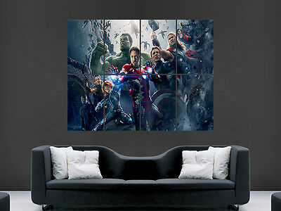 Avengers Age Of Ultron  Giant Wall Poster Art Picture Print Large