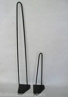 ANTIQUE RETRO 70's VINTAGE STEEL HAIRPIN TABLE LEGS INDUSTRIAL EAMES STYLE
