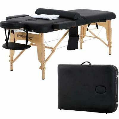 "New 2.5"" Pad PU Portable Massage Table Facial Spa Bed W/Carry Case Sheet Pillow"