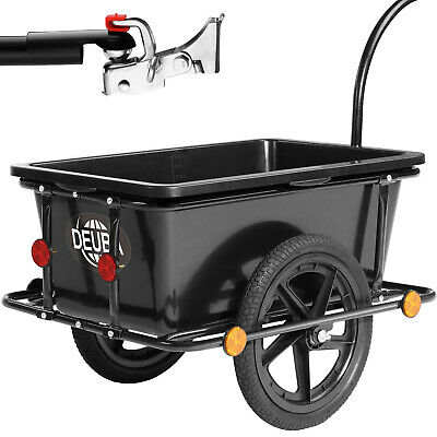 Bike Trailer Coupling & Penumatic Tire 90L Cargo Luggage Bicycle Handle Drawbar
