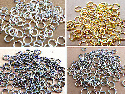 Wholesale Jewelry Making 3MM/4mm/5mm/6mm/7mm/8MM/9MM Jump Rings Open Connectors