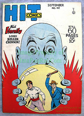 Golden Age HIT COMICS #42 Quality Comics KID ETERNITY Heaven Can Wait  BIG PICS