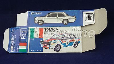TOMICA F11 FIAT 131 ABARTH RALLY | JAPAN | 1979-87 | ORIGINAL BLUE BOX ONLY