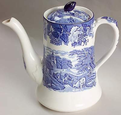 Enoch Wood & Sons ENGLISH SCENERY BLUE Coffee Pot