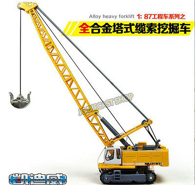 VERY HIGH QUALITY ! 1/87 DIECAST CONSTRUCTION METAL CRAWLER EXCAVATOR CRANE