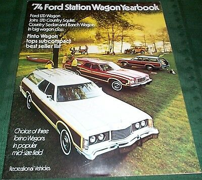 1974 Ford Station Wagon Yearbook Brochure - Mint!
