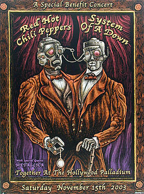 Emek Red Hot Chili Peppers Metallica Poster