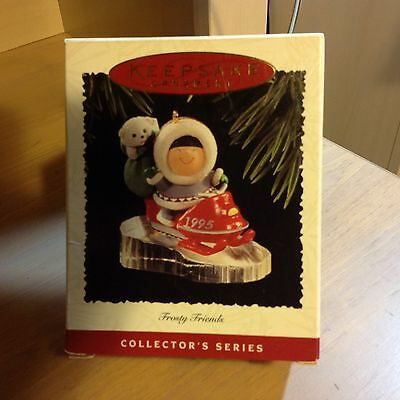 1995 Hallmark Snowmobile Frosty Friends Christmas Ornament #16