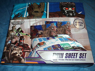 Marvel Guardians Of The Galaxy Twin Sheet Set For Kids Bed, Brand New