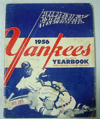 New York Yankees Authentic Official 1956 Program Yearbook