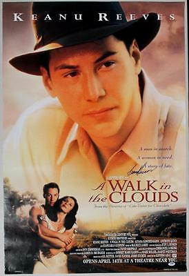 Keanu Reeves A Walk In The Clouds Signed 27X40 One Sheet Poster PSA/DNA #I81859