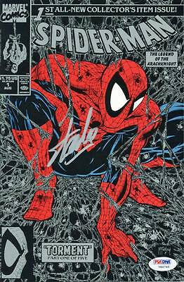 Stan Lee Signed Marvel Spider-Man #1 Comic Book Torment 1990 Silver Cover PSA