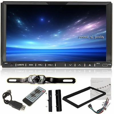 "Universal Double Din 7"" Car DVD MP3 Player Touch Screen Stereo USB Radio+Camera"