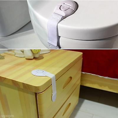2pcs Home Infant Baby Kid Adhesive Cabinet Door Drawer Cupboard Safe Safety Lock