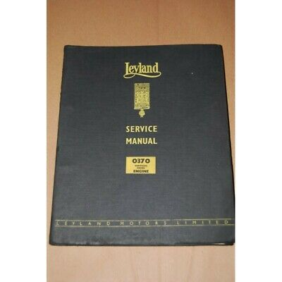 Leyland Service Manual 0370 Vertical Diesel Engine Chapter 3X Buono