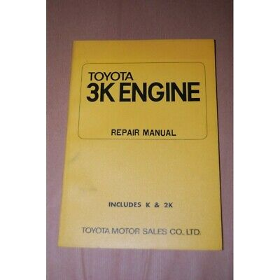 Toyota 3K Engine Repair Manual Includes K & 2K 1971 Inglese Buono