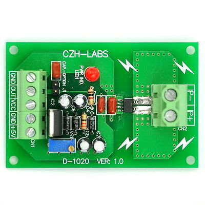 Panel Mount +/-20Amp AC/DC Current Sensor Module Board, based on ACS712