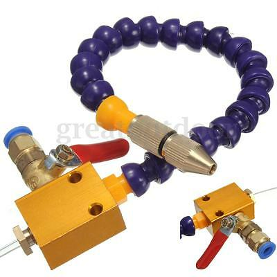 Mist Coolant Lubrication Spray System For 8mm Air Pipe CNC Lathe Milling 36cm
