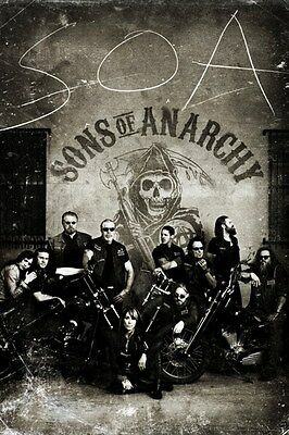 New Sons Of Anarchy Vintage Bikers Poster