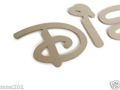 MDF Wooden Alphabet Letters & Numbers, 6mm Thick Disney Font