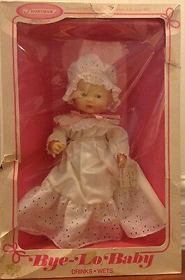 Horsman Bye-Lo-Baby doll 1967 drinks and wets in original box 3508