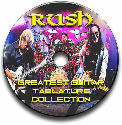 Rush Rock Guitar Tabs Tablature Song Book Anthology Tuition Software Cd