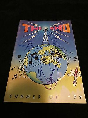 "Autographed ""The Who"" 1979 Tour Program"