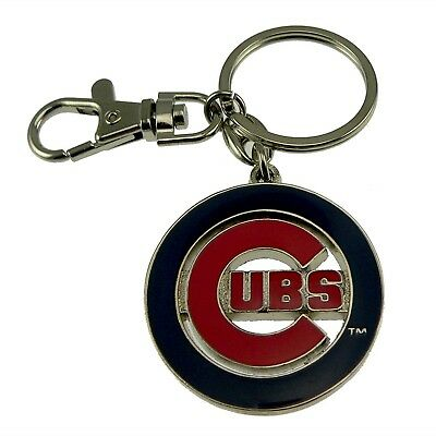 MLB Baseball Chicago Cubs Sports Heavyweight Keychain Key Holder Tag Ring NEW